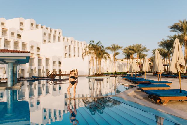 Luxury white hotel egypt