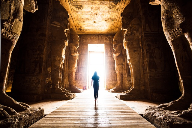 Towards the light in ancient Egypt
